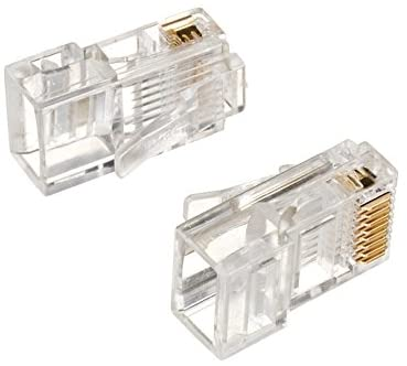 R.J. Enterprises - RJ45 Solid Wire Modular Plugs 8P8C (100 PACK)