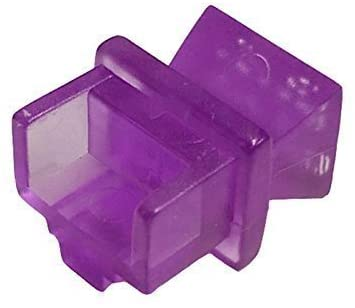 R.J. Enterprises - RJ45 Jack Dust Cover, Cap, Protector, Violet (100 pieces)