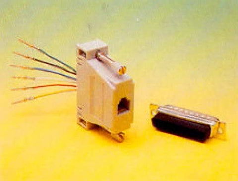 DB25 Connector (Female) to RJ-11 (4C) Adapter - DB25-4-F
