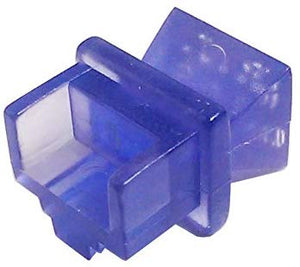R.J. Enterprises - RJ45 Jack Dust Cover, Cap, Protector, Blue (100 pieces)