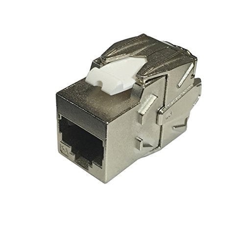 R.J. Enterprises Cat6A Shielded Keystone Jack 180°, Tool-Less