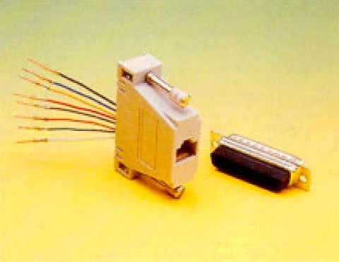 DB25 Connector (Female) to RJ-45 (8C) Adapter - DB25-8-F