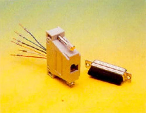 DB25 Connector (Female) to RJ-11 (6C) Adapter - DB25-6-F
