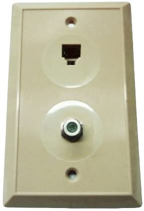 R.J. Enterprises 217-4/TV TV & Phone Wall Plate