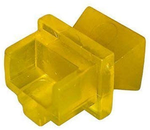 R.J. Enterprises - RJ45 Jack Dust Cover, Cap, Protector, Yellow (100 pieces)