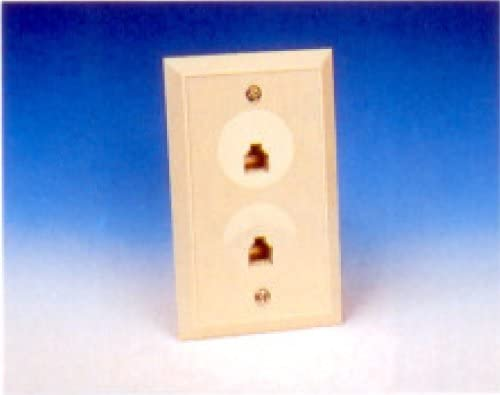 R.J. Enterprises 217-8 Duplex Wall Jack (8C)