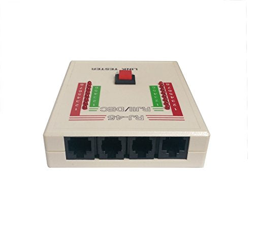 Link Tester Diagnostic Tool for RJ45, RJ11, and DEC Cables. Test LAN Network Phone Wires