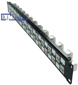 R.J. Enterprises - SDPP-24-C5ES - Cat5E Patch Panel 568A/B, Tool-Less,, 24 Port, Shielded, 1U