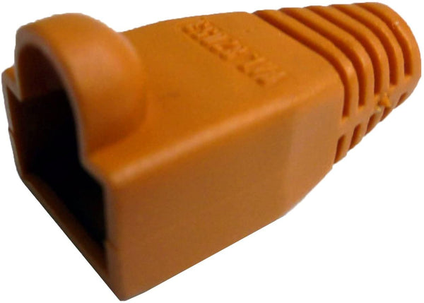 R.J. Enterprises - (300 Pcs RJ45 Strain Relief Boot Orange RJ-SR-0-OR (Patented)