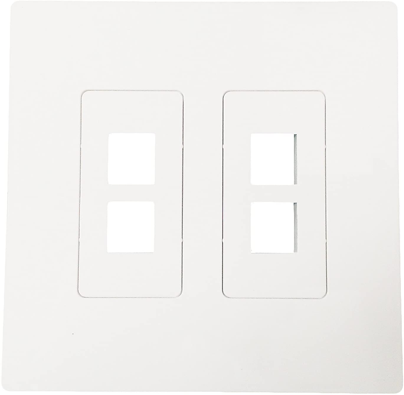 R.J. Enterprises - Screwless Snap-on Wallplate 2-Gang 4 Port RJ-2013B-S4