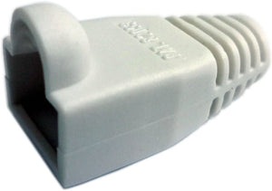 R.J. Enterprises - (300 Pcs) RJ45 Strain Relief Boot White RJ-SR-0-WH (Patented)