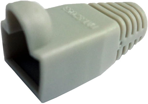 R.J. Enterprises - (300 Pcs) RJ45 Strain Relief Boot Grey RJ-SR-0-GY (Patented)
