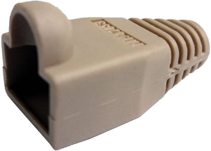 R.J. Enterprises - (300 Pcs RJ45 Strain Relief Boot Ivory RJ-SR-0-IV (Patented)