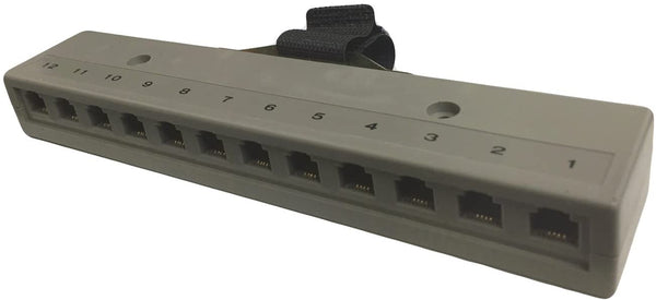 R.J. Enterprises 800T-12(M) - Telco Harmonica Connector (Male), 12 RJ11 Ports (6P4C)