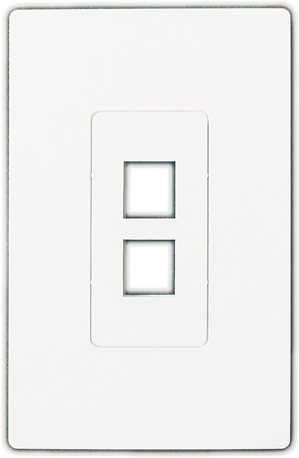 R.J. Enterprises - Screwless Snap-on Wall Plate 2 Port for Ethernet Keystone Jacks RJ-2013-S2