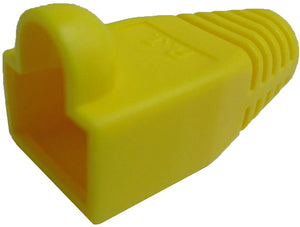 R.J. Enterprises - (300 Pcs) RJ45 Strain Relief Boot Yellow RJ-SR-0-YE (Patented)