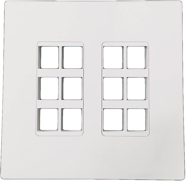 R.J. Enterprises - Screwless Snap-on Wallplate 2-Gang 12 Port RJ-2013B-S12