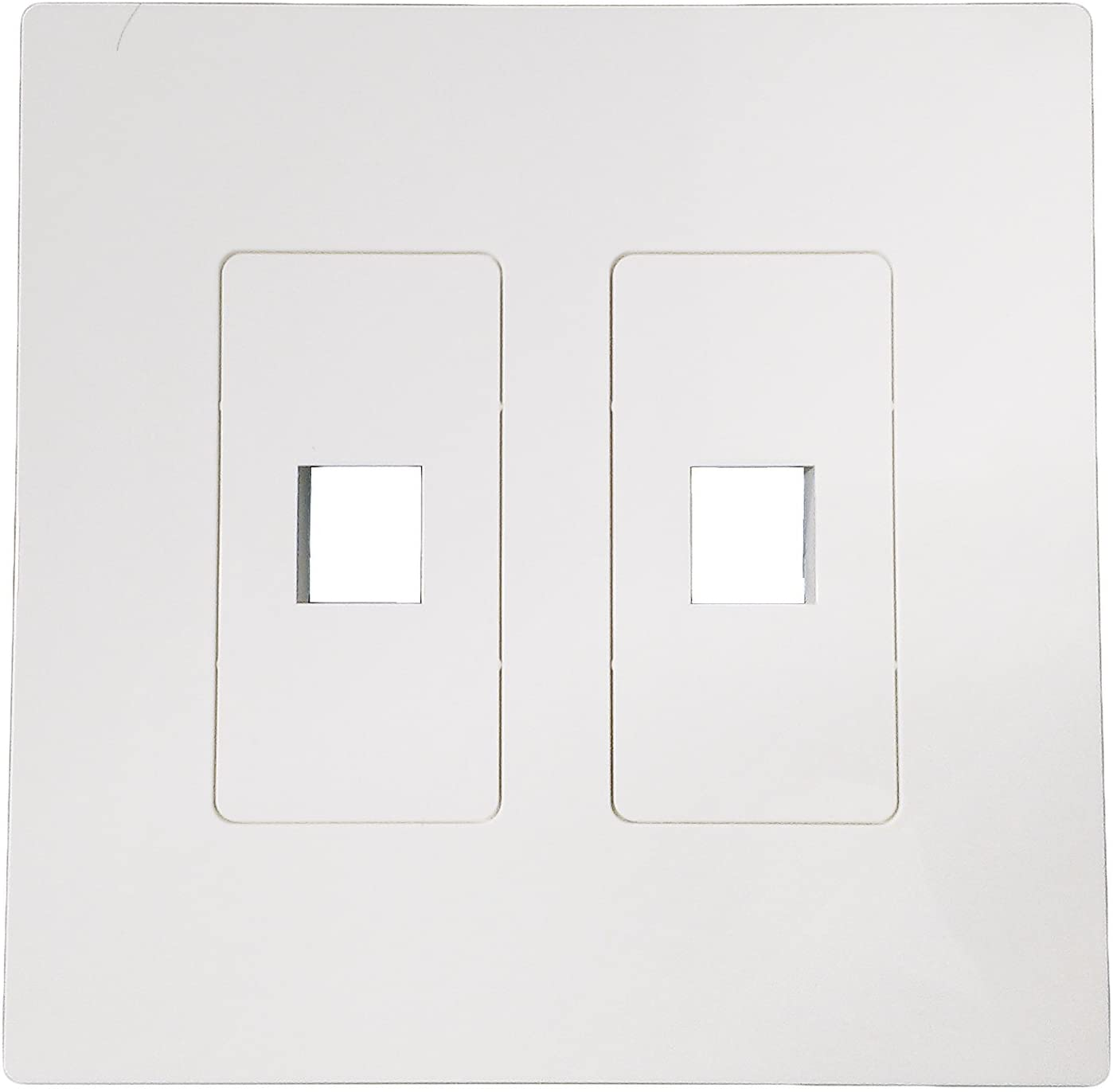 R.J. Enterprises Screwless Snap-on Wallplate 2-Gang 2 Port RJ-2103B-S2