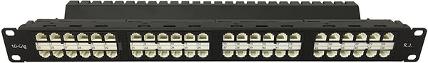 R.J. Enterprises - HDPP-C6-48 - High Density Patch Panel, 10 Gb, Cat6, Tool-less, 48 Port