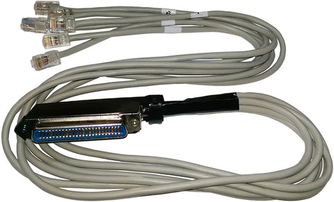 R.J. Enterprises - Amphenol Telco (Female) to 6 RJ45 (Male) Cable, 3 Feet