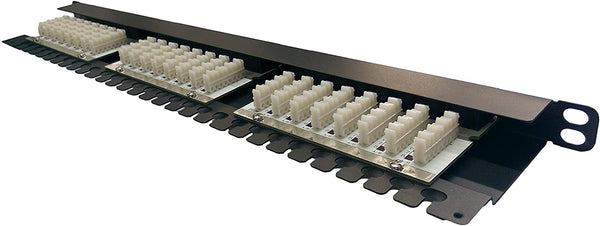 R.J. Enterprises - High Density CAT6 Half-U (0.5U) Patch Panel, 24 Port-110-Data Center- Telecom Room