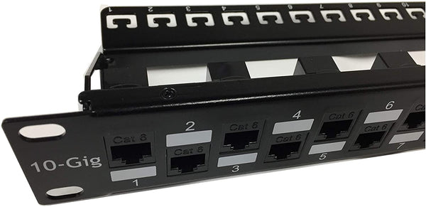 SDPP-24-C6 Patch Panel close-up view