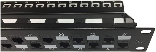 R.J. Enterprises - SDPP-24-C6 - Patch Panel, No Punch Down, Cat6, 568A/B, Tool-Less, 24 Port