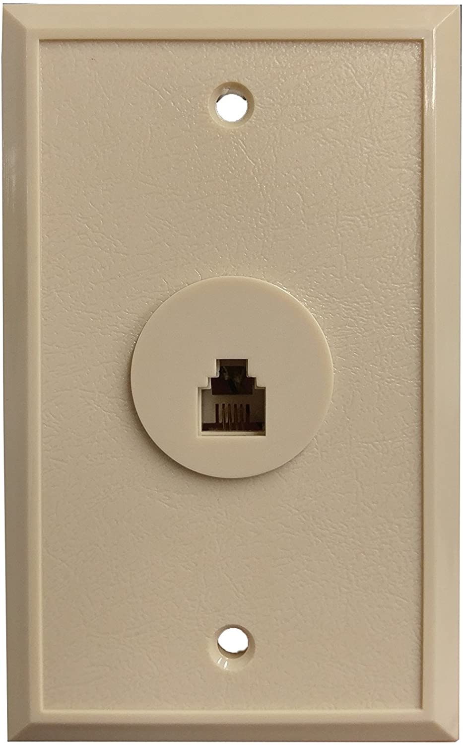 R.J. Enterprises - 216-4B Flush Mount Telephone Wall Jack (4 Conctact) (50/per bag)