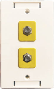 R.J. Enterprises - Wall Plate Dual CATV Coaxial (3 pieces/pack)