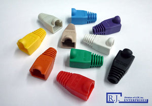 R.J. Enterprises RJ45 Purple Strain Relief Boots (100 Pcs Per Bag) (Patented)