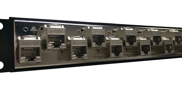 R.J. Enterprises - SDPP-24-C6AS-2 - Patch Panel, No Punch Down, C6A, 24 Port