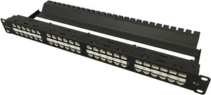 R.J. Enterprises - HDPP-48-C6A - High Density Patch Panel, 10 Gb, Tool-Less, 48 Port