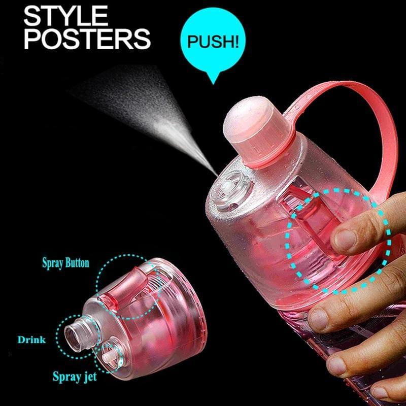 Water Bottle with Mist Spray function - Fitness Flow