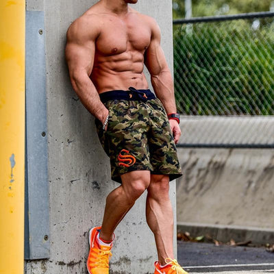 Running Camouflage Shorts Men Fitness