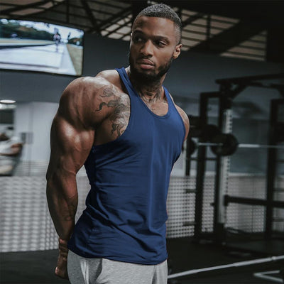Men Gym Muscle Tank Tops Fitness