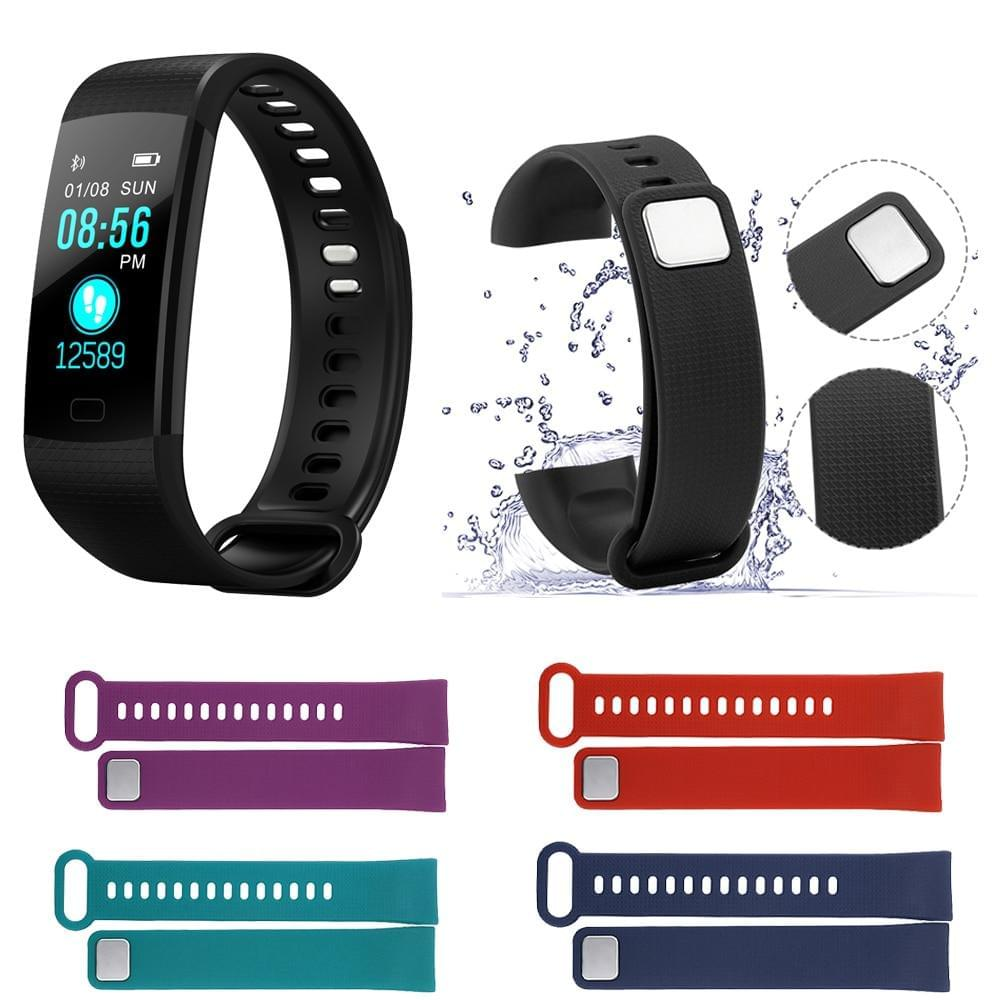 Y5 Smart Band Heart Rate Tracker Fitness Tracker Y5 Smartband Smart Bracelet Waterproof Smart Wristband Smart Watch Men - Fitness Flow