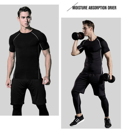 Men's Gym Tights Training Clothes