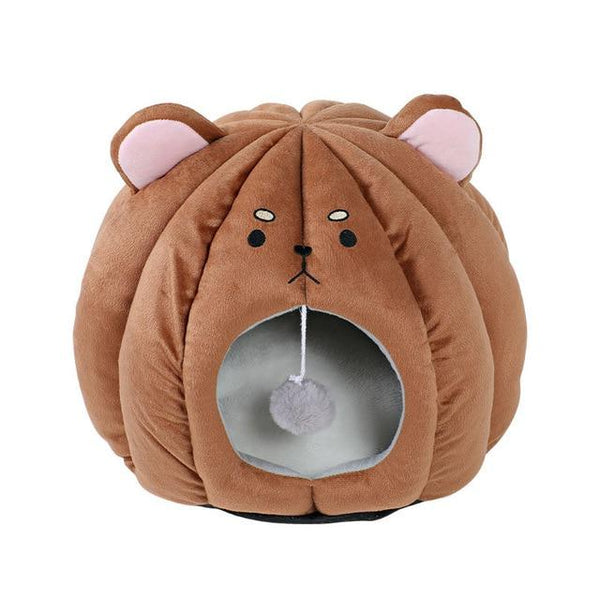 Adorable Animal Face Cat Bed | Warm and comfortable bed for your sweet kitten