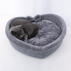 Comfortable bed's cats heart form | Shaped kennel for pets - FANTASY BIG STORE
