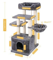 Complete multi-level tree for cats and dogs. With tower pulls scratches and berths! - FANTASY BIG STORE