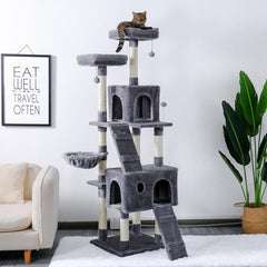 MULTILEVEL TREE™ | Tower for cats and dogs | With tower pulls scratches and berths!