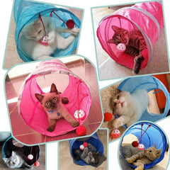 Fun tunnel for cat games | Collapsible | Double entry | Different colors - FANTASY BIG STORE