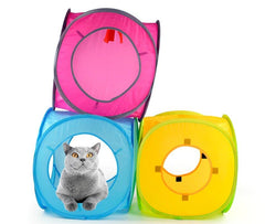 FUN TUNNEL™ for cat's games | Collapsible | Double entry | Different colors - FANTASY BIG STORE