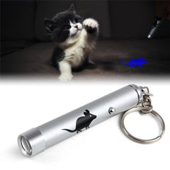 Funny Pet LED Laser Toy for Cats | With Bright Animation Mouse Shadow