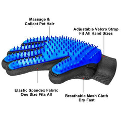 HAIR REMOVAL GLOVE™ and HAIR REMOVAL BRUSH™ | For cat and dog | Removes hair with gentle massage