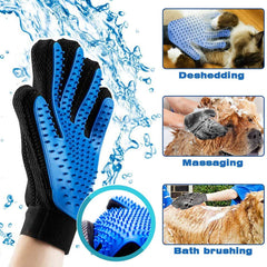 HAIR REMOVAL GLOVE™ and HAIR REMOVAL BRUSH™ | For cat and dog | Removes hair with gentle massage - FANTASY BIG STORE