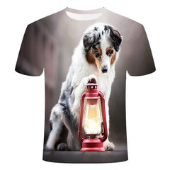 New Dog 3D printing T-Shirt | Get noticed by everyone - FANTASY BIG STORE