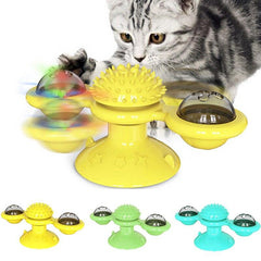 Toy mill for cats with catnip