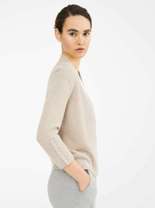 Ulzio Cashmere Cotton Ribbed Cardi