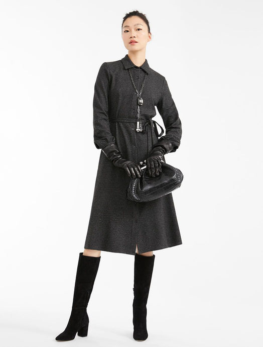 Alloro Jersey Tie Shirt Dress